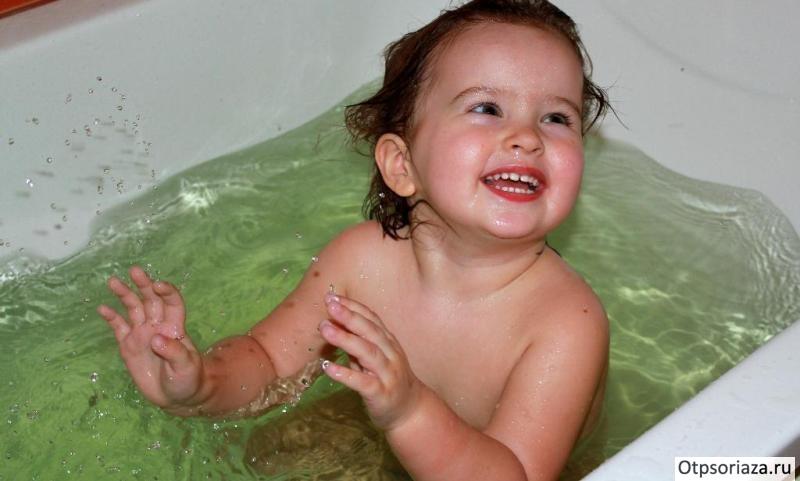 Лечебная ванна для ребенка