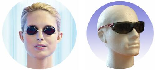 Очки для защиты глаз от облучения.
