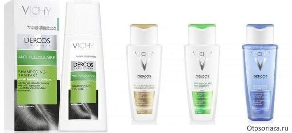 Шампуни серии Vichy Dercos